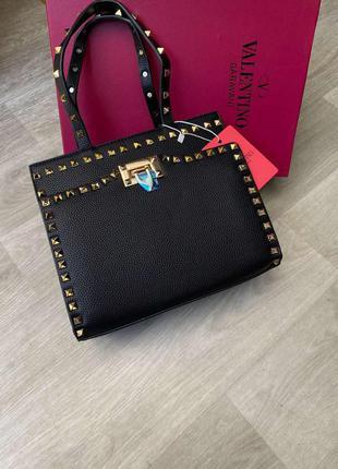 Женская сумка в стиле  valentino валентино  черная