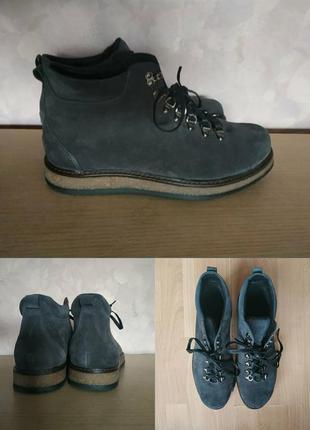 Ботинки 42-43 р замш серый большой размер
