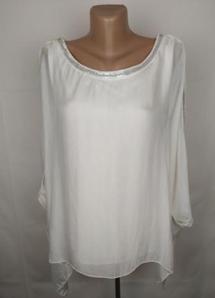 Блуза шикарная итальянская шелковая шелк трикотаж