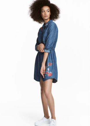 Платье джинсовое h&m размер 34