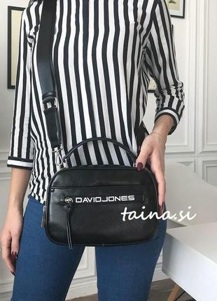 Клатч david jones cm5462 black оригинал черная сумка кросс боди