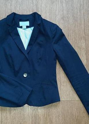 Пиджак синий приталенный класссика