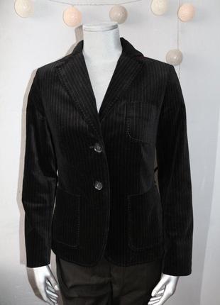 Стильный черный велюровый бархатный пиджак gant