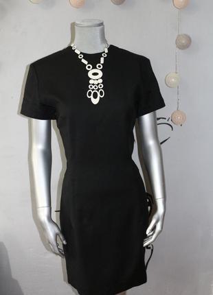 Черное шерстяное платье футляр marc cain