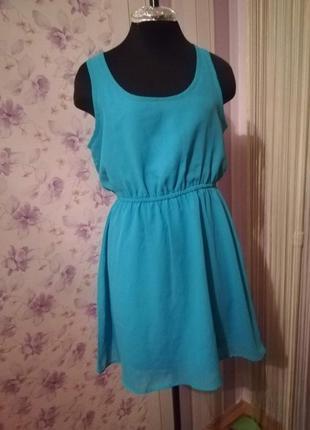 Платье терранова terranova s (42) голубое, лазурное