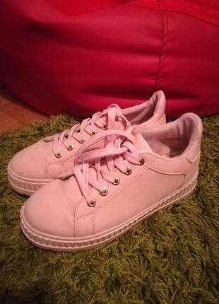 Кеды, кроссовки, слипоны 37 размер розовые (пудровые)