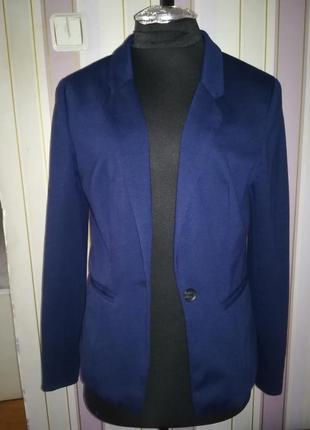 Жакет пиджак синий tally weijl 36 размер (s)