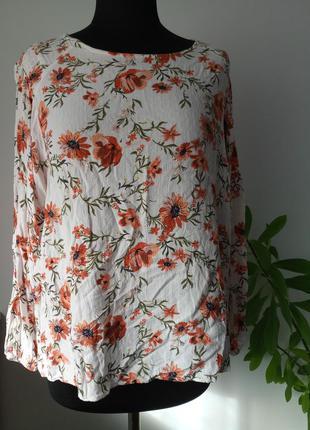 Натуральная вискозная блузка жатка 24 р от marks&spenser