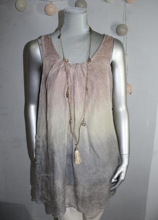 Шелковая блуза майка италия