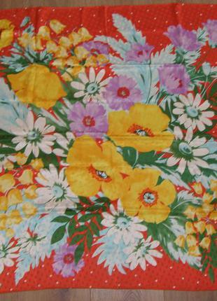 Шелковый платок италия, 84х86 см