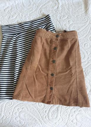 Вельветовая юбка трапеция