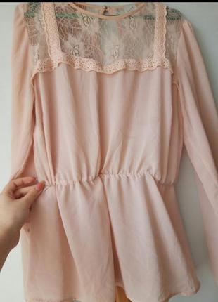 Шифоновая нежная блуза