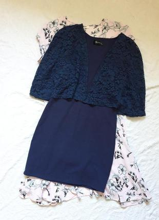 Вечернее мини платье с кружевом