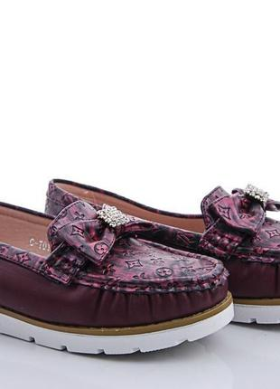Туфли (мокасины) для девочки бренда tom.m