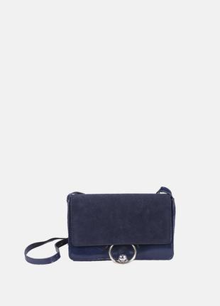 Синяя сумка mango