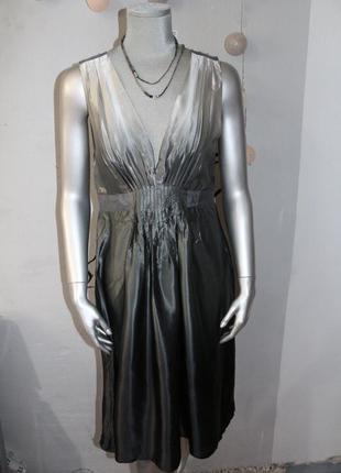 Шелковое миди платье b.young