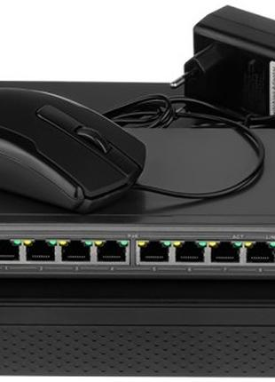 Комплект  IP видеонаблюдения на 8 камер