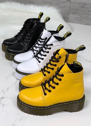 """Ботинки деми """"dr. martens"""" из натуральной кожи"""
