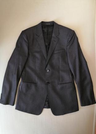 Классический костюм emporio armani, шерстяные пиджак и брюки, ...