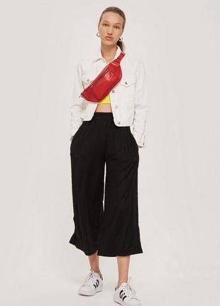 Штаны укороченные черные adidas