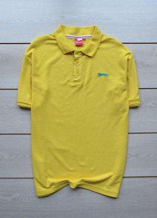 Яркая футболка поло от slazenger