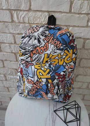 🔥🔥🔥тканевый рюкзак с граффити