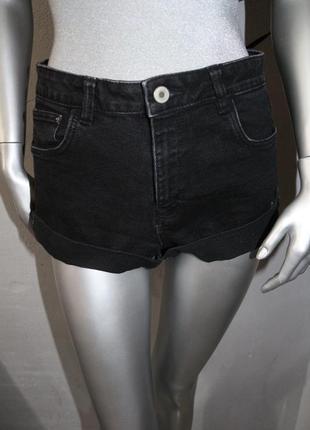 Черные джинсовые шорты zara