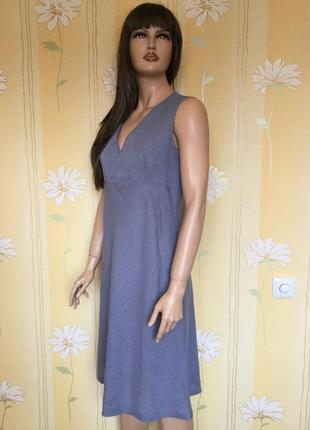 Платье тонкое лён + коттон португалия размер 12