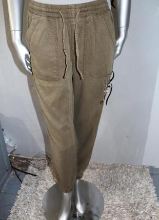 Хаки штаны карго new look