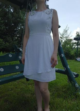 Милое легкое платье с декором плаття uttam london