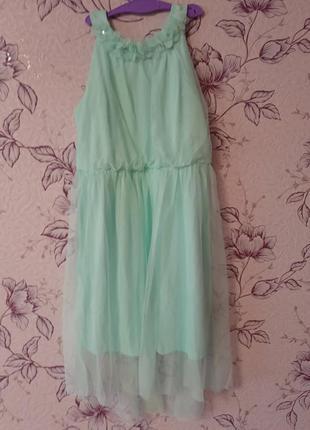 Роскошное мятное нарядное платье сарафан bonprix bpc collection