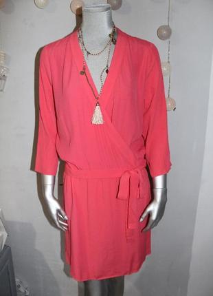 Розовое платье naf naf