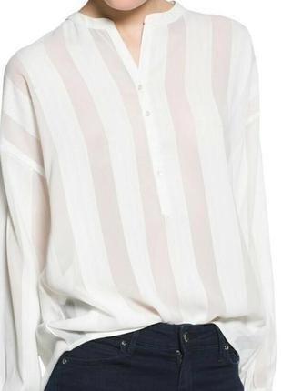 Блуза mango в вертикальную полоску