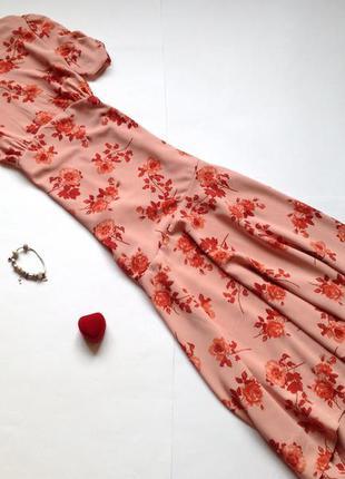 Асимметричное платье миди