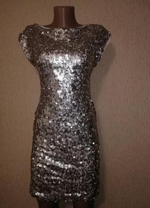 🔥🔥🔥блестящее короткое женское вечернее, коктейльное платье с п...
