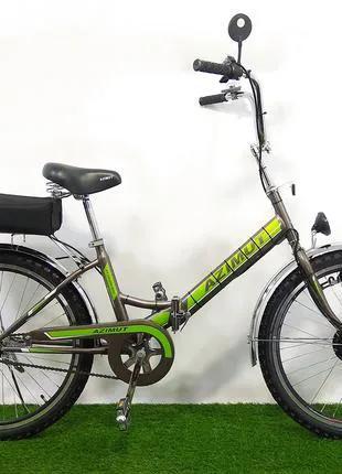Электровелосипед складной Azimut 24 колеса 350W 36v (пробег 65км)