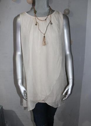Шелковая блуза туника италия