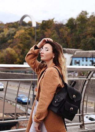 Женский рюкзак из эко-кожи, городской ранец из кожзама