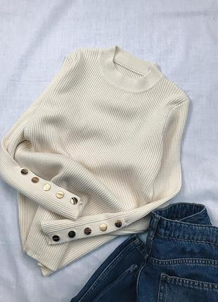 Гольфик свитер с декором
