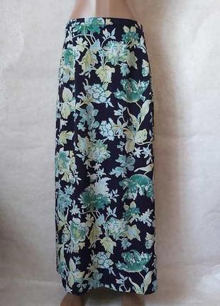 Фирменная длинная юбка/юбка в пол в красочный принт крупные ли...