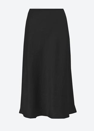 Льняная юбка миди большого размера, батал bm collection, 22 (xxl)