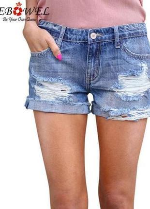 💖💖💖стильные короткие женские рваные джинсовые шорты💖💖💖
