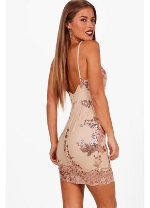 Платье вечернее фатин пайетки in the style размер s