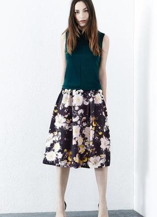 Пышная миди юбка в цветы warehouse