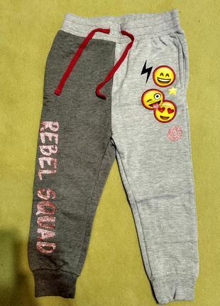 Спортивные штаны с карманами манжетами смайлами смайликами pho...