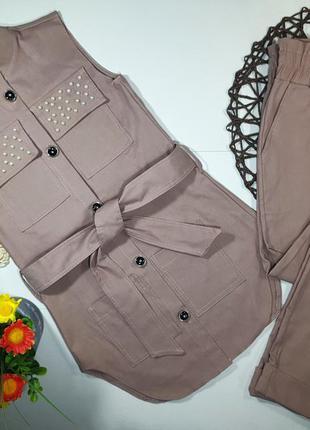 Стильный костюм двойка  жилеточка+ брючки