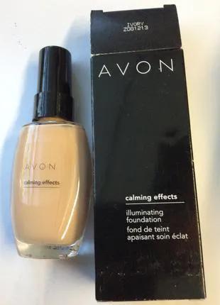 Тональный крем с успокаивающим эффектом avon (ivory)