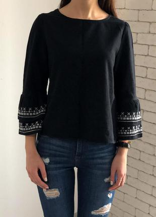 Чорна блузка від zara basic🍭🍭