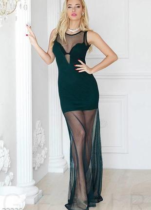 Noisy may черное платье-сетка,новое, размер м-l/46-48