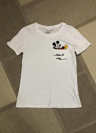 Белая футболка disney!